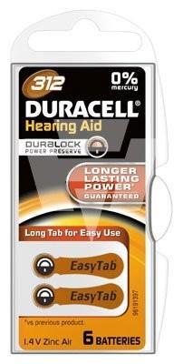 Duracell Hörgerätebatterie 312AC