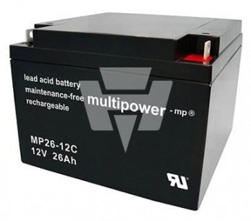 Multipower Blei-Akku MP 26-12C Pb12V / 26Ah