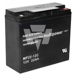 Multipower Blei-Akku MP 22-12C Pb12V / 22Ah
