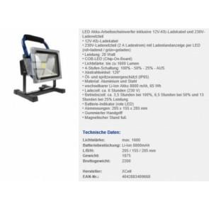 XCell LED Akku Arbeitsscheinwerfer 20W dimmbar