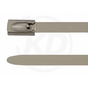 Edelstahlbinder 304SS 4,6 x 500 mm, mit Kugelfixierung, 100 Stk.