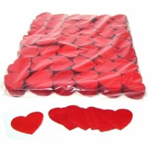 Konfetti Papier Herz rot