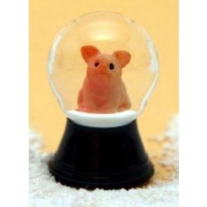 Schneekugel Schwein sitzend 25P